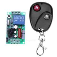 220V 1CH RF Wireless Remote Control Switch Light Lamp LED Receiver + Transmitter