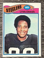 1977 Topps #195 Lynn Swann ERROR  - Steelers Football FREE SHIPPING 🏈