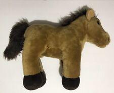"Build A Bear Retired Horse Brown White Plush 18"" Stuffed Animal Toy BAB"