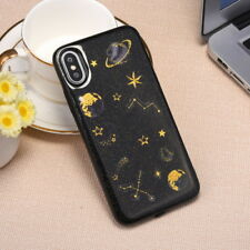 For iPhone X 8 7 6s Plus 5 Luxury Bling Planet Pattern Slim Soft Skin Case Cover
