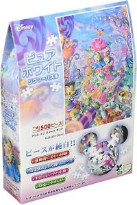 500pcs Jigsaw Puzzle Alice in Wonderland Gyutto Series Pure White 25x36cm New