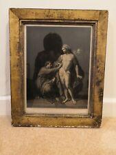 Jesus Christ print Framed. Old Gold Plaster Frame. Church. Christian.
