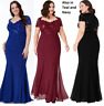 Goddiva Sequin Lace Chiffon Inserts Fishtail Evening Maxi Dress Prom Party Ball