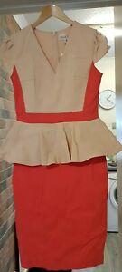 Gorgeous Ladies Paperdolls Designer Dress, Size 10, BNWT  Pink/Beige