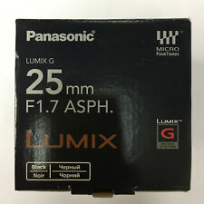 Panasonic LUMIX G 25mm f/1.7 ASPH Lens H-H025 for M.3/4 Micro Four Thirds