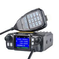 Mobile Ham Radio Transceiver VHF 25W UHF 20W Car Mobile Radio Quad Band FM Radio
