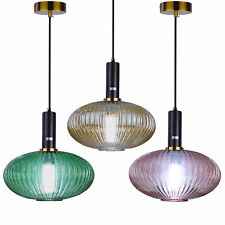Modern Oval art Chandelier Ceiling Light Stunning Fringe refraction PendantLamps