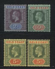 Gold Coast Collection 4 KGV Values Mounted Mint