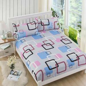 Bedding Simple Style Bed Sheet Cover Pillowcase Soft Home Supplies JH