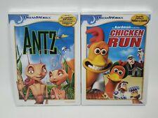 Dvd lot of 2 Dreamworks Movies - Antz & Chicken Run New Animated Kids/Family
