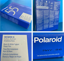 New Sealed Box POLAROID 55 Black White Instant Sheet Film 4x5 ISO 50. Exp 05/06