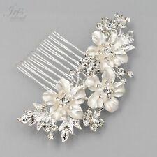 Flower Bridal Hair Comb Crystal Headpiece Hair Clip Wedding Accessories 04949 SP