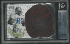 Emmitt Smith 1997 Playoff Contenders Leather D/C Helmet BGS MINT 9 Cowboys w/10