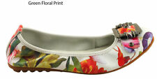 Leather Ballet Flats Casual Floral Shoes for Women