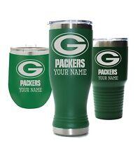 Green Bay Packers Personalized Custom Thermal Football Mug, 30oz & 12oz