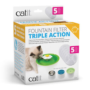 Catit 2.0 Senses Flower Water Fountain Filter For Cats 5 Pack