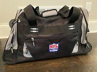 "NFL Alumni Wheeled 26"" Black/Gray Duffel Bag Full Size Luggage Authentic Duffle"
