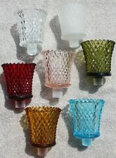Nos Home Interiors Homco Diamondlite Votive Cup Pairs Candle Holders