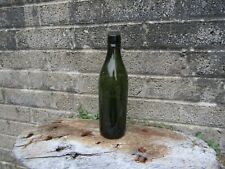 More details for antique green glass beer bottle - royal well brewery - malvern - with stopper