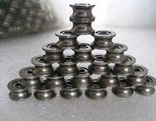 10pcs 4*13*7MM 624UU HCS  U Groove Guide Pulley Rail Ball Bearings Wheel