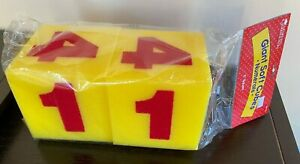 """NEW in Package 5"""" Square Giant Soft Dice Cubes Numerals Numbers Learning Teach"""