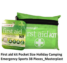 First aid kit Pocket Size Holiday Camping Emergency Sports 38 Pieces_Masterplast