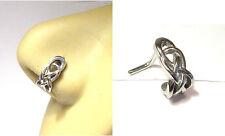 Surgical Steel Celtic Knot L Shape Bent Nose Ring Stud Hoop 18 gauge 18g