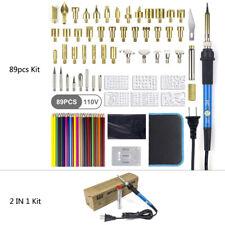 Wood Burning Set Tool Pen Pyrography Supplies Iron Tips Art Craft DIY Kit