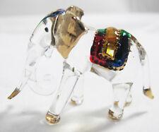 Handmade Lovely Thai Elephant Art Glass Blown Wild Animal Figurine