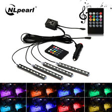 4x9LED Car Interior Light RGB LED Strip Floor Foot Lamp Atmosphere Decorative