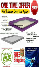One Time Offer - Queen 60 x 84 Boyd Tranq 1-60% Waveless Waterbed Mattress+Liner