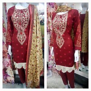 Winter Anaya designer inspired  Asian Ready Made Suit  Salwar Kameez pakistani