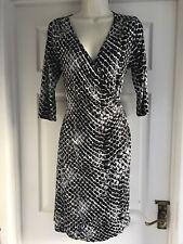 AC. Ajuste Para Mujer Talla 14 Negro Blanco Gris Vestido Damas Verano Smart elastizada trabajo