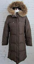 Womans Michael Kors Down Filled Puffer Parka Jacket Coat Fur Hood Size Small