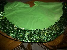 large christmas tree skirt- layered with sequins all around! gorgeous!