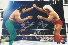 Ric Flair & Ricky Steamboat Signed 16x20 Photo BAS Beckett COA WWE WCW Autograph