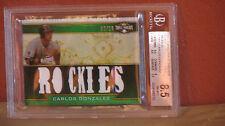 2011 Triple Threads Relics Emerald Carlos Gonzalez BGS 8.5.