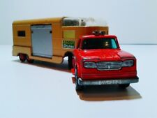Matchbox King Size No. K-18 Dodge Tractor with Horse Van Ascot Stables 1960's RW