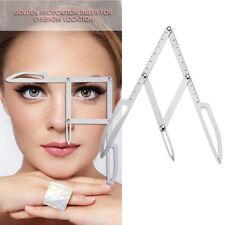 Permanent Makeup Eyebrow Calipers Stencil Design Golden Ratio Ruler Measure NEW