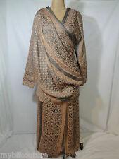Japanese Designer HIROKO KOSHINO Two Piece Silk Skirt/Pant w/ Blouse Set sz40/S
