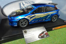 FORD FOCUS bleu custom tuning 1/18 HOT WHEELS 57317 voiture miniature collection