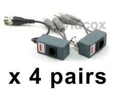 4 pairs CCTV Video Balun (Video Power Audio) Coaxial BNC to UTP Cat5 CCTV Camera