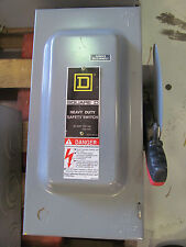 Square D 60 Amp 240 Volt 2 Pole Fusible Heavy Duty Safety Switch Type 1