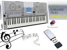 MIDI File Karaoke USB stick for PSR S500  NEW Volume 2