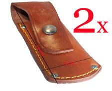 2/Leder Jagdmesser Tasche Messerscheide Messeretui Messerholster Mammut Lakota