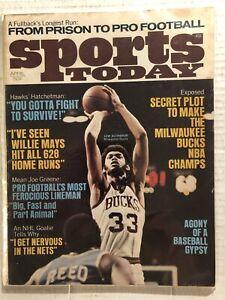 1971 Sports Today MILWAUKEE BUCKS Lew ALCINDOR Steelers JOE GREENE Willie MAYS