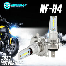 IRONWALLS H4 HS1 9003 LED COB Motorcycle Hi/Lo Beam Headlight Bulb 55W 6000K 12V