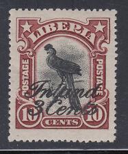 Liberia # 114 MNH 1909 Inland Surcahrge Fauna Bird
