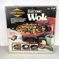 West Bend The Original Electric Wok No. 5109 Non-Stick Automatic Heat Control