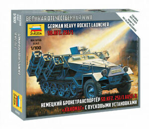 Zvezda 1/100 German Half Track Sd.Kfz.251/1 Heavy Rocket Launcher Z6243